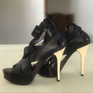 BCBGMAXAZRIA All Leather Platform Sandals Size 7